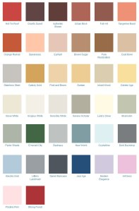 The art Deco colour palette from the 1920's through to the early 1940's